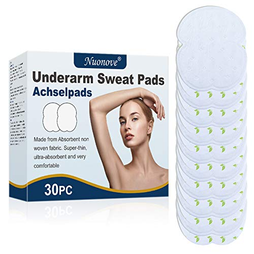 Underarm Sweat Pads, Underarm Armpit Sweat Pads, Sweat Free Armpit Protection, Sweat pads for Men and Women Comfortable, Non Visible,Disposable, 30pc
