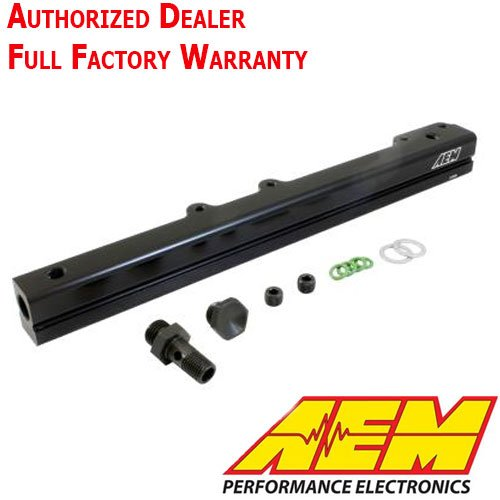 AEM 25-131BK Black High Volume Fuel Rail