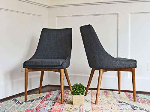 Amazon Com Upholstered Dining Chairs Mid Century