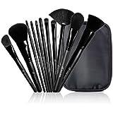 e.l.f. Cosmetics 11-Piece Studio Makeup Brush Collection, Black