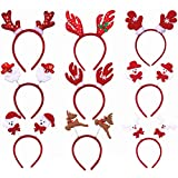 TOYMYTOY 12Pcs Christmas Headbands Hair Hoop Christmas Headwear for Party Costume Accessories (Assorted Styles)