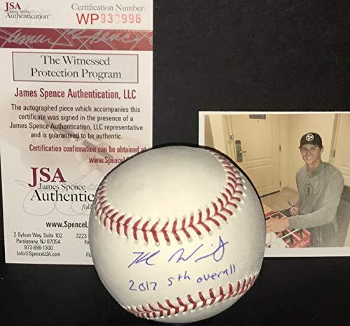 Kyle Wright Atlanta Braves Autographed Signed Official Major League Baseball JSA WITNESS COA 2017 5th -
