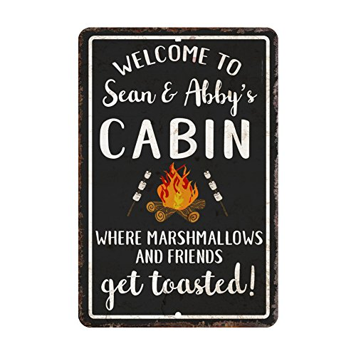 Personalized Welcome to the Cabin Where Marshmallows and Friends Get Toasted - Welcome Cabin