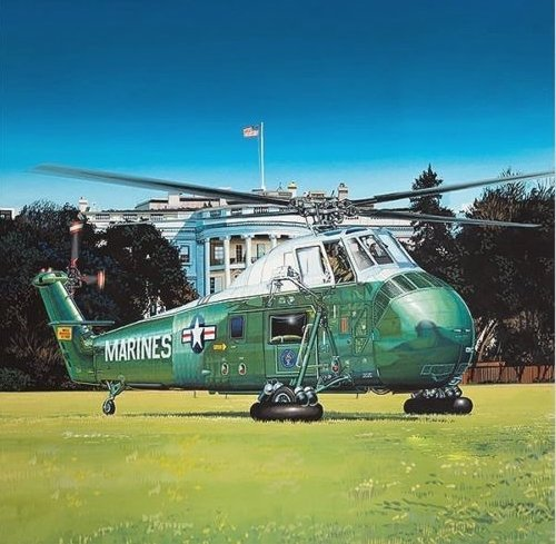 GAL64105 1:48 Gallery Models VH-34D Marine One HMX-1 Presidential Flight [MODEL BUILDING KIT] by MRC