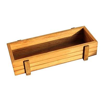 alignmentpai Rectangle Wooden Planter Box Flower Succulent Planting Pot for Yard Garden Decor 1pc : Garden & Outdoor