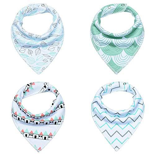 4Pcs/Lot Baby Cotton Bibs Kids Cute Printing Soft Bandana Baby Saliva Towels Newborn Triangle Scarf Infant Burp Cloths by VADOLY