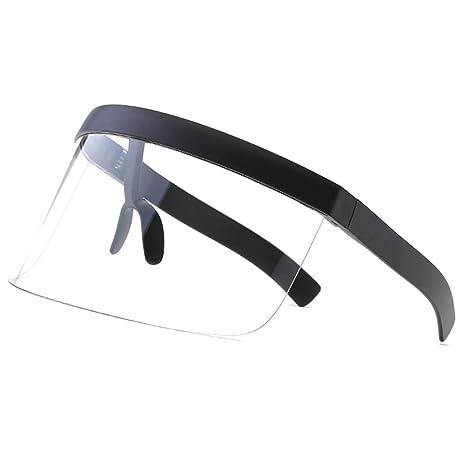 VORCOOL Gafas de Sol surdimensionnées futurista Shield Visor ...