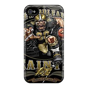 Hot Design Premium XYl183QCeC Tpu Case Cover Iphone 4/4s Protection Case(new Orleans Saints)