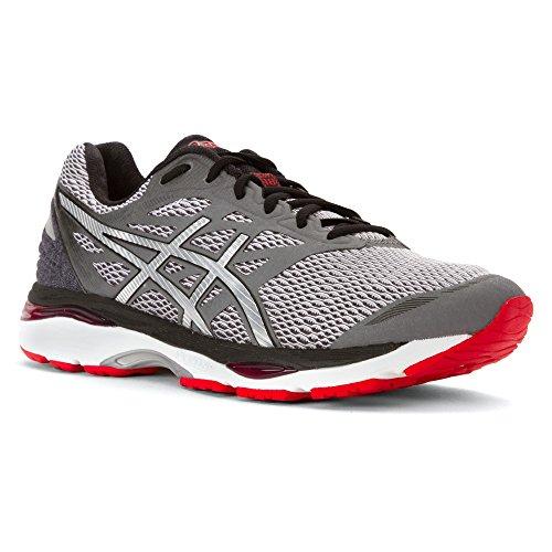 ASICS Men's Gel-Cumulus 18 Running Shoe, Carbon/Silver/Vermilion, 10.5 M US