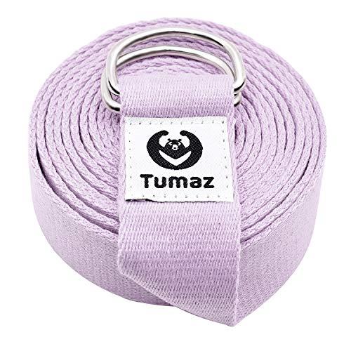 Tumaz Yoga Gurt/Yoga Strap [15+ Farben, 180/240/300 cm] mit Extra Sicherer, Einstellbarer D-Ring-Schnalle, Langlebiger…