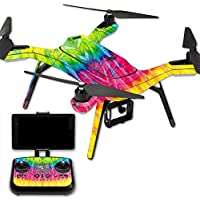MightySkins Protective Vinyl Skin Decal for 3DR Solo Drone Quadcopter wrap cover sticker skins Tie Dye 2