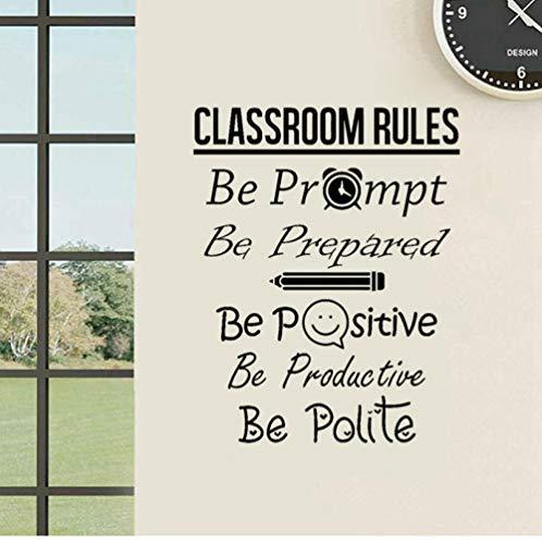 zhj888 42.7Cm X 54Cm Classroom Decal Education Artist Home Decoration PVC Vinyl Wall Sticker