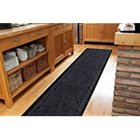 The Rug House Grey Black Skid Resistant Durable Entry Mats For Kitchen And Hallway - Sold And Priced Per Foot - 2 2 Wide
