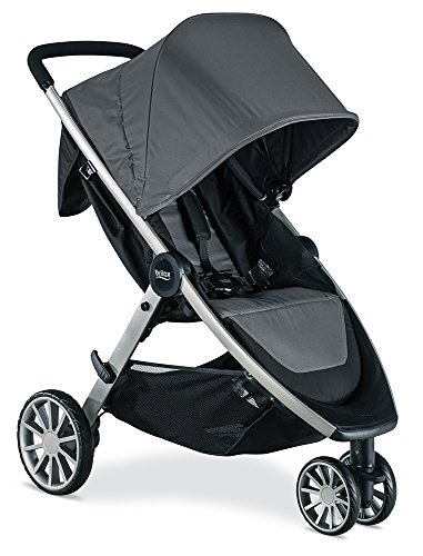 Britax B-Lively Lightweight Stroller – Up to 55 pounds – Car Seat Compatible – UV 50+ Canopy – Easy Fold, Dove