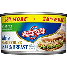 Swanson White Premium Chunk Chicken Breast, 12.5 Ounce (Packaging May Vary)
