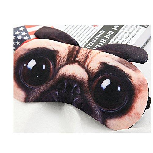 ML Cartoon Cute 3D Animal Eye Mask Cover- Creative Cartoon Animal Eye Mask Fluff Cute Sleep Eyeshade- Midnight Magic Adjustable Sleep Mask-A Funny Gift -