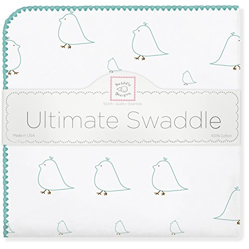 SwaddleDesigns Ultimate Swaddle SeaCrystal Chickies
