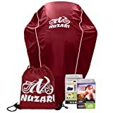 Nuzari Waterproof Polyester Outdoor Motorcycle Cover, Large - Red