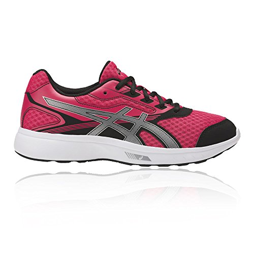 Asics Womens Stormer Running Scarpa Rouge Rosso / Argento / Nero