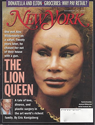 New York Magazine December 15, 1997, Volume 30, N° 48: the Lion Queen, The Art of War, Viva Versace & other - Versace Lion