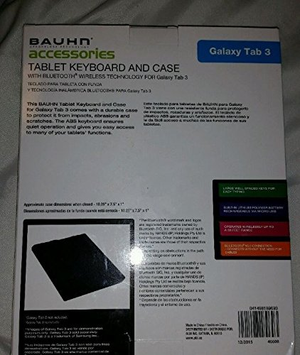 Amazon.com: Bauhn Tablet Keyboard and Case For Galaxy Tab 3: Computers & Accessories