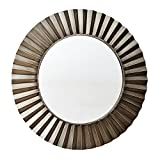 Large Bronze Bathroom Mirror Household Essentials Round Decorative Sunburst Wall Mirror, Bronze