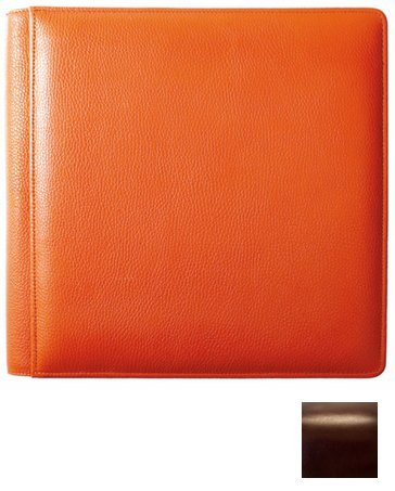 ROMA BROWN fine-grain leather #105F album with back/front pages by Raika - 8x10
