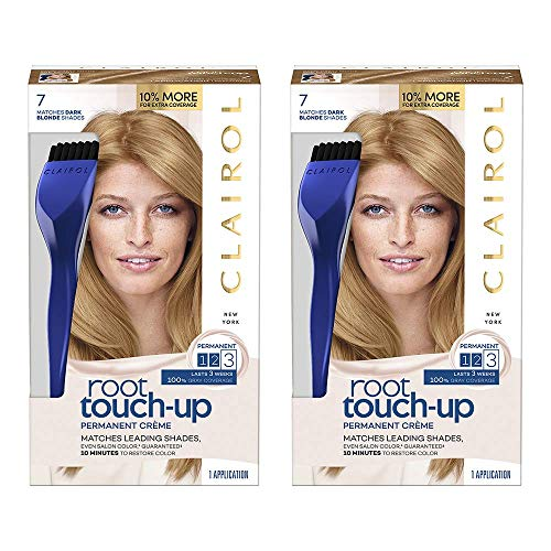 Clairol Nice 'n Easy Root Touch-Up 7 Kit (Pack of 2), Matches Dark Blonde Shades of Hair Coloring, Includes Precision Brush Tool ()