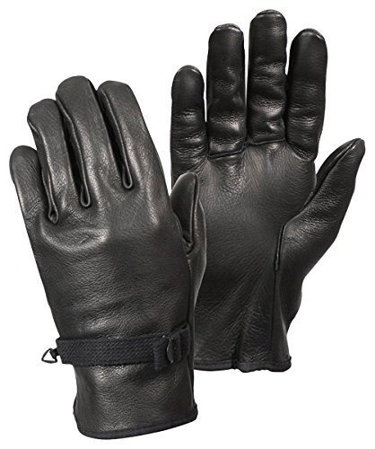 D-3A Black Leather Gloves (7) ()