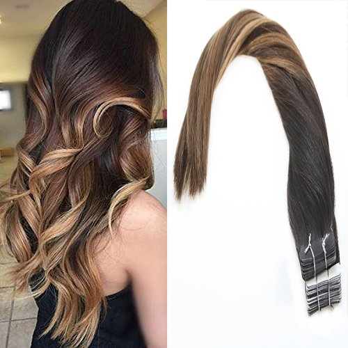 Sunny 22inch 20pc 50g Balayage Tape in Extensions Skin We...