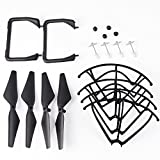 YouCute Spare Part Kit for Udi U45 Raven U45W Blue Jay U42 U42W U42WH CW4 Blue Jay Raven Drone Rc Quadcopter Black blade Protecting frame Lading Gear Blade Cover (Black Small)