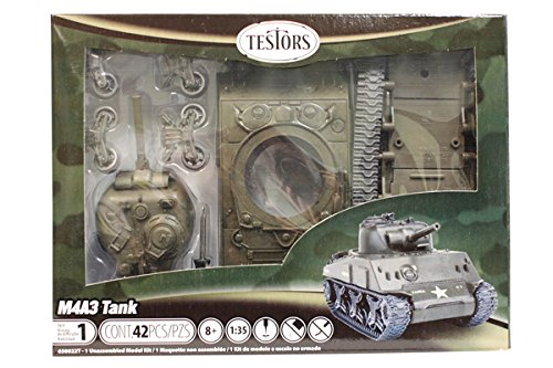 Testors Classic M4A3 Tank Model Kit (1:35 Scale)