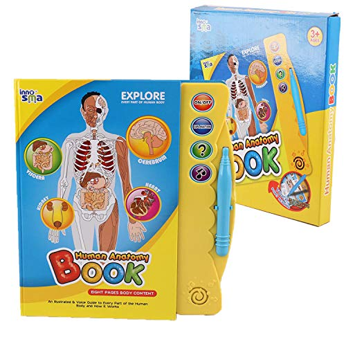 Pasaca Toys Kids Learning Book, Human Body Anatomy with 3 Learning Game, Learning Human Body, Explanation of Body Part (Blue) (Human Body Game)