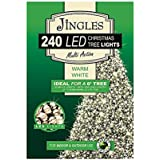 240 Multi Function LED Christmas Tree Lights (Ideal for 6ft Tree), Warm White, Suitable for Outdoor Use