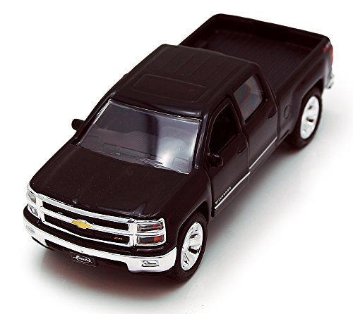 Jada Toys 2014 Chevy Silverado Pickup Truck Collectible Diecast Model Car Black (Diecast Truck Black)
