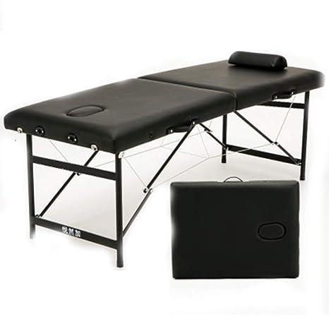 Mesa de masaje plegable y portátil - Mesa de salón de belleza con ...