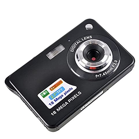 Fitiger 2.7 Inch 18MP TFT LCD HD Micro Mini Digital Camera,Smile Capture,Anti-Shake (Digital Cameras)