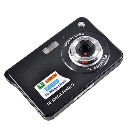 Fitiger 2.7 Inch 18MP TFT LCD HD Micro Mini Digital Camera,Smile Capture,Anti-Shake