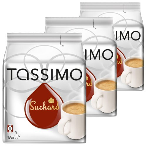Tassimo Suchard Hot Chocolate, Pack of 3, 3 x 16 T-Discs