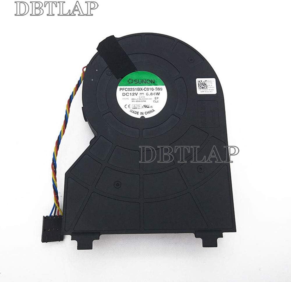 DBTLAP Laptop CPU Fan Compatible for DELL OptiPlex 790 390 990 SFF Cooling Fan Foxconn PVB120G12H-P01 J50GH-A00,J50GH 0J50GH 12V 0.75 4Wire