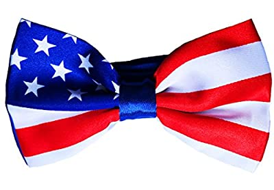 American Flag Bow Tie - Handmade Dog or Cat Handcrafted Bow Tie Including Collar
