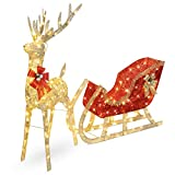 Best Choice Products Lighted Christmas 4ft Reindeer