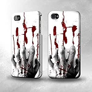 Apple iPhone 4 / 4S Case - The Best 3D Full Wrap iPhone Case - Hand of Blood hjbrhga1544