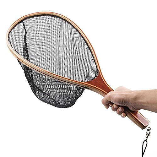Isafish Soft Rubber Mesh Fly Fishing Landing Net Trout ()