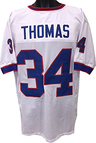 Athlon CTBL-018938N Thurman Thomas Unsigned TB Custom Stitched Pro Style Football Jersey - White - Extra Large
