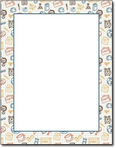 (Academic Border Stationery - 80 Sheets - Stationery for School)
