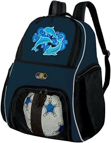 DolphinサッカーバックパックまたはDolphinsバレーボールボールバックパック