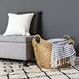 Best Choice Products Large Capacity Hand Woven Seagrass Wicker Pattern Storage Laundry Basket Organizer, Braided Handles