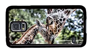 Hipster thinnest Samsung Galaxy S5 Case Giraffes Family PC Black for Samsung S5