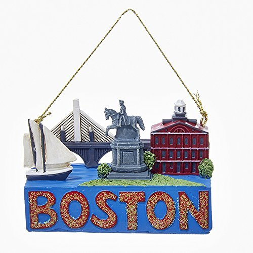 Kurt Adler 2 Inch Boston Travel Resin Ornament